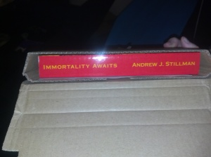 See that right there on the spine? That's my name.