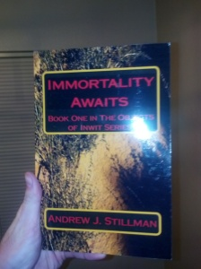 An actual copy of my book.