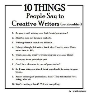 Writers -- any of this sound familiar? Same question to those of you who ask these. -_-