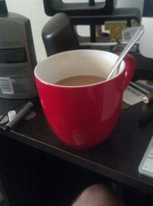 Be sure you have lots of coffee available. You'll need it. In the meantime, ignore the atrociousness that is my desk.